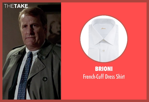 Brioni white shirt from Steve Jobs seen with Jeff Daniels (John Sculley)