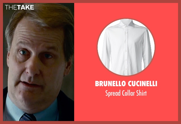 Brunello Cucinelli white shirt from Steve Jobs seen with Jeff Daniels (John Sculley)