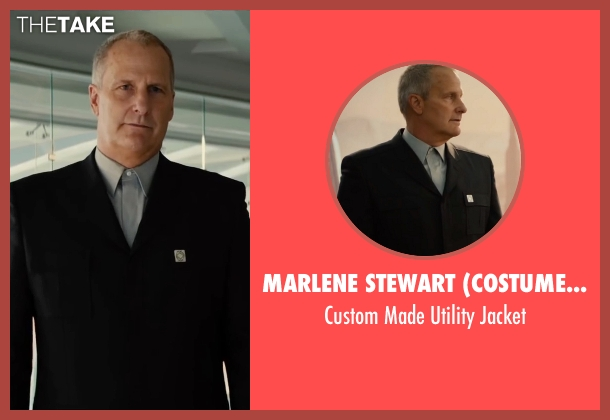 Marlene Stewart (Costume Designer) black jacket from The Divergent Series: Allegiant seen with Jeff Daniels (David)
