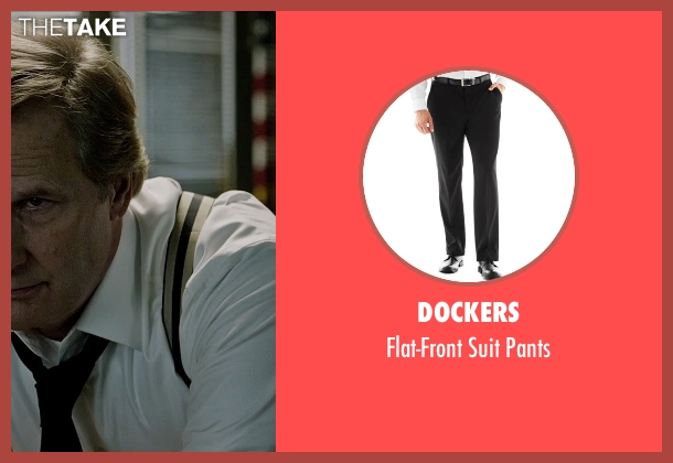 Dockers black pants from The Martian seen with Jeff Daniels (Teddy Sanders)
