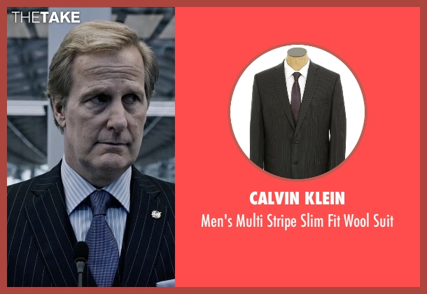 Calvin Klein black suit from The Martian seen with Jeff Daniels (Teddy Sanders)