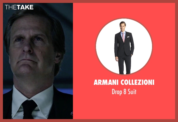 Armani Collezioni black suit from The Martian seen with Jeff Daniels (Teddy Sanders)