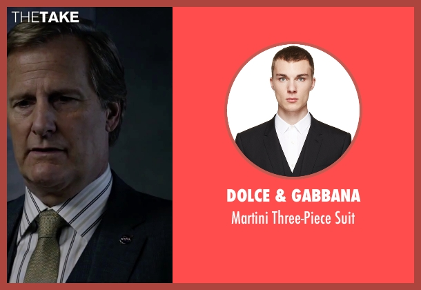 Dolce & Gabbana black suit from The Martian seen with Jeff Daniels (Teddy Sanders)
