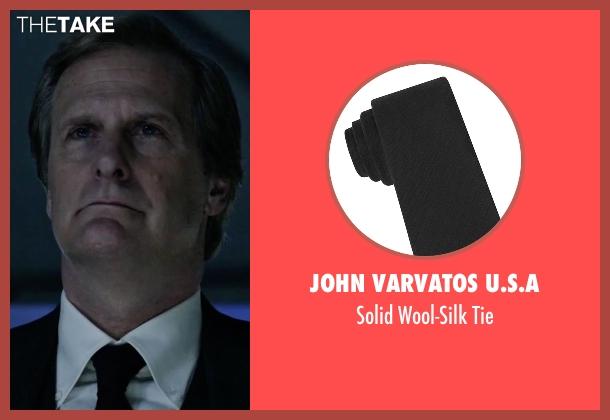 John Varvatos U.S.A black tie from The Martian seen with Jeff Daniels (Teddy Sanders)