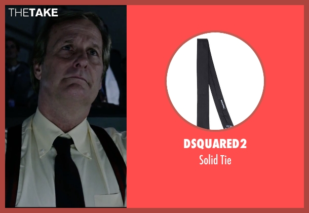 DSquared2 black tie from The Martian seen with Jeff Daniels (Teddy Sanders)
