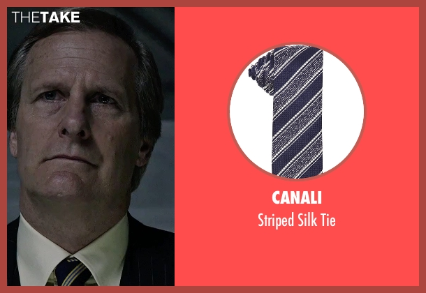 Canali blue tie from The Martian seen with Jeff Daniels (Teddy Sanders)