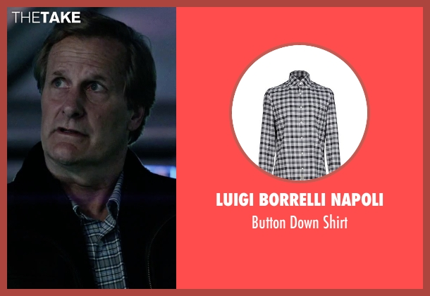 Luigi Borrelli Napoli gray shirt from The Martian seen with Jeff Daniels (Teddy Sanders)