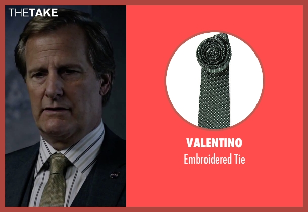 Valentino green tie from The Martian seen with Jeff Daniels (Teddy Sanders)