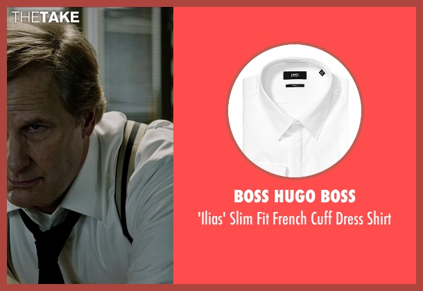 Boss Hugo Boss white shirt from The Martian seen with Jeff Daniels (Teddy Sanders)