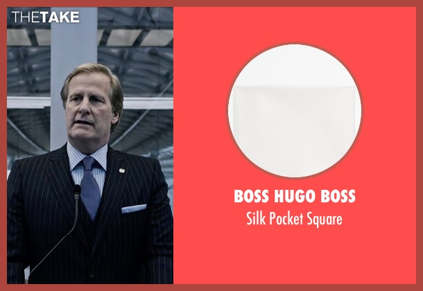 Boss Hugo Boss white square from The Martian seen with Jeff Daniels (Teddy Sanders)