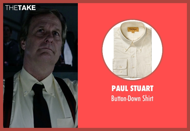 Paul Stuart yellow shirt from The Martian seen with Jeff Daniels (Teddy Sanders)
