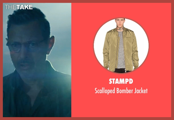 Stampd green jacket from Independence Day: Resurgence seen with Jeff Goldblum (David Levinson)