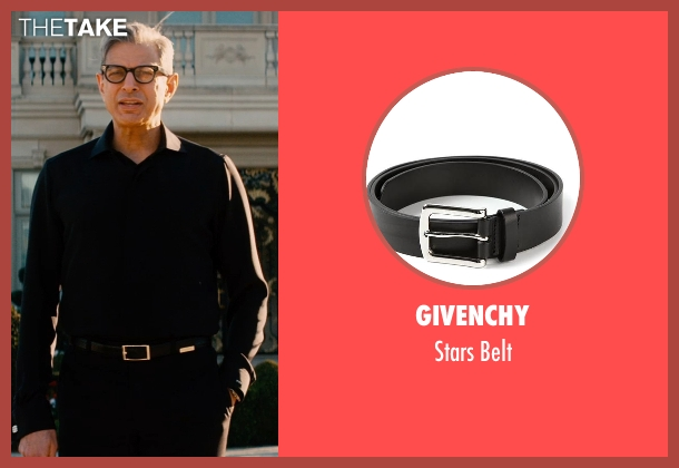 Givenchy black belt from Mortdecai seen with Jeff Goldblum (Unknown Character)