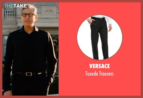 Versace black trousers from Mortdecai seen with Jeff Goldblum (Unknown Character)