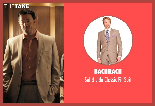 Bachrach beige suit from Drive seen with Jeff Wolfe (Tan Suit)