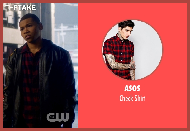 Asos red shirt from The Flash seen with Jefferson 'Jax' Jackson (Franz Drameh)