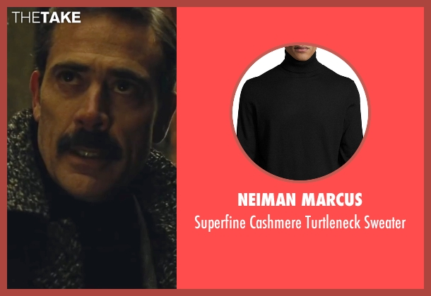 Neiman Marcus black sweater from Batman v Superman: Dawn of Justice seen with Jeffrey Dean Morgan (Thomas Wayne)