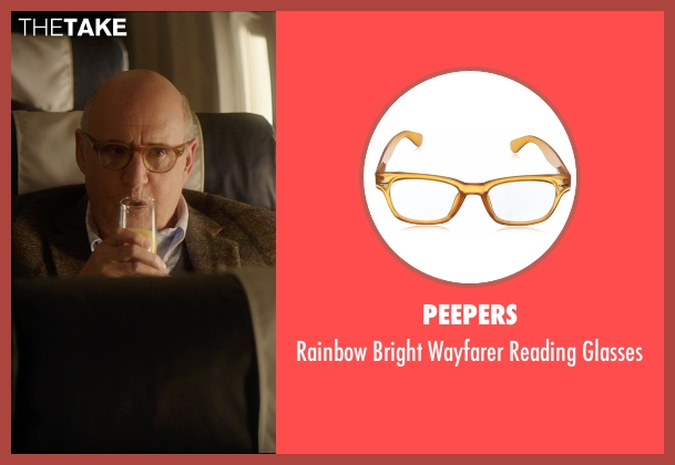 Peepers brown glasses from The D Train seen with Jeffrey Tambor (Unknown Character)