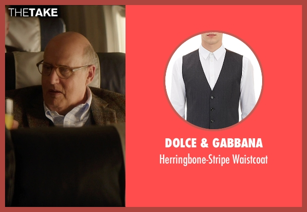 Dolce & Gabbana gray waistcoat from The D Train seen with Jeffrey Tambor (Unknown Character)