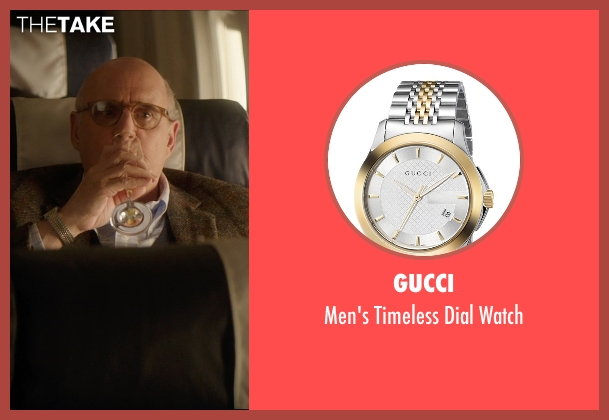 Gucci silver watch from The D Train seen with Jeffrey Tambor (Unknown Character)