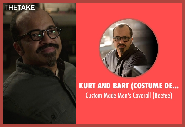 Kurt and Bart (Costume Designer) black coverall from The Hunger Games: Mockingjay Part 1 seen with Jeffrey Wright (Beetee)