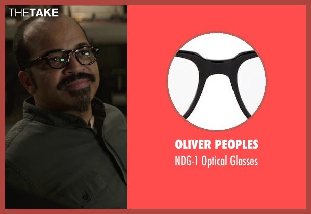 Oliver Peoples black glasses from The Hunger Games: Mockingjay Part 1 seen with Jeffrey Wright (Beetee)