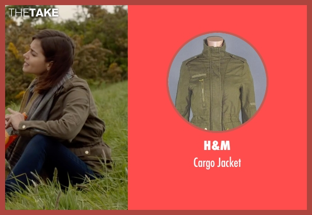 H&M green jacket from Me Before You seen with Jenna Coleman (Katrina Clark)