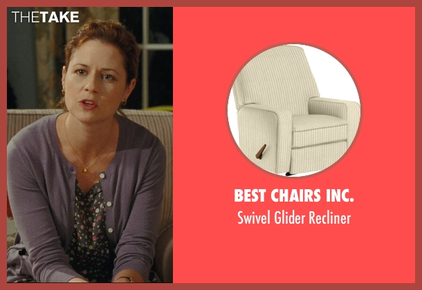 Best Chairs Inc. beige recliner from Hall Pass seen with Jenna Fischer (Maggie)