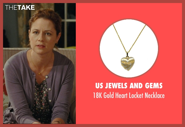 US Jewels And Gems gold necklace from Hall Pass seen with Jenna Fischer (Maggie)
