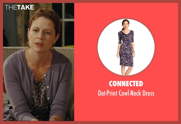 Connected purple dress from Hall Pass seen with Jenna Fischer (Maggie)