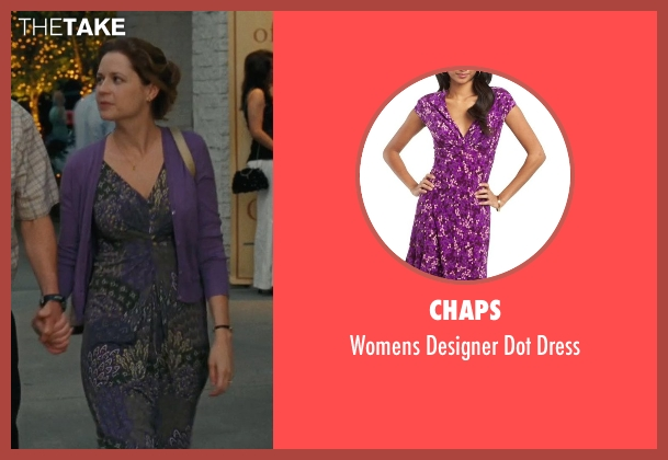 Chaps purple dress from Hall Pass seen with Jenna Fischer (Maggie)