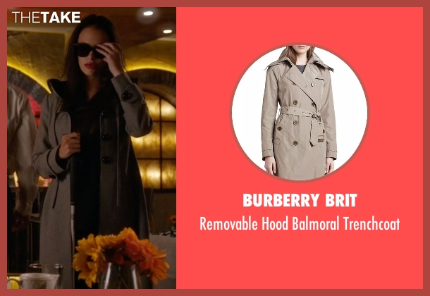 Burberry Brit beige trenchcoat from Pretty Little Liars seen with Jenna Marshall (Tammin Sursok)