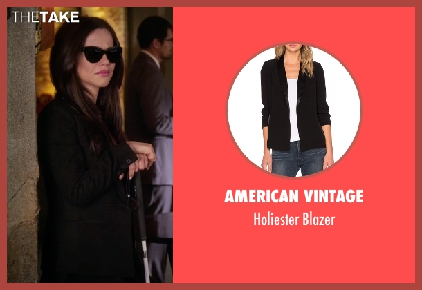 American Vintage black blazer from Pretty Little Liars seen with Jenna Marshall (Tammin Sursok)