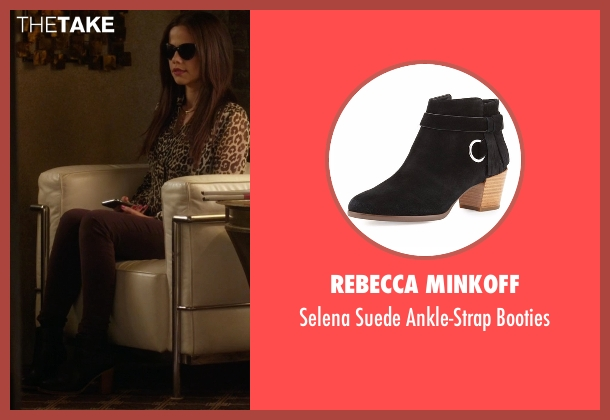 Rebecca Minkoff black booties from Pretty Little Liars seen with Jenna Marshall (Tammin Sursok)