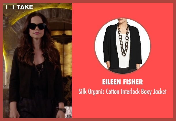 Eileen Fisher black jacket from Pretty Little Liars seen with Jenna Marshall (Tammin Sursok)