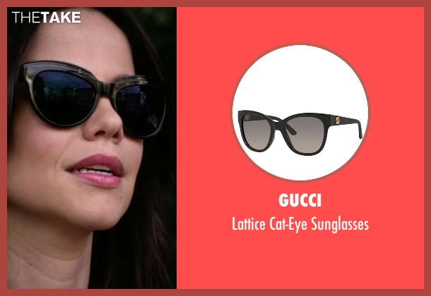 Gucci black sunglasses from Pretty Little Liars seen with Jenna Marshall (Tammin Sursok)