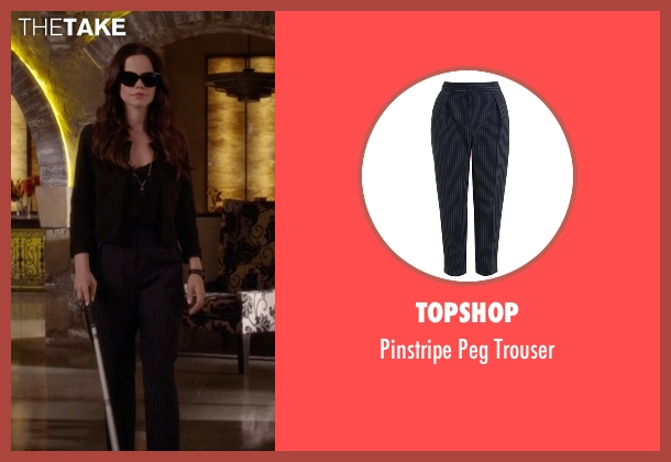Topshop blue trouser from Pretty Little Liars seen with Jenna Marshall (Tammin Sursok)