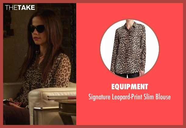 Equipment brown blouse from Pretty Little Liars seen with Jenna Marshall (Tammin Sursok)