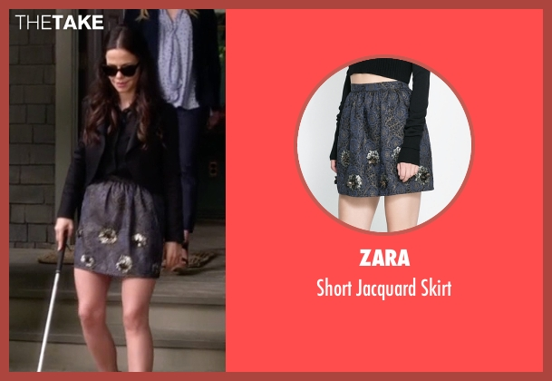 Zara gray skirt from Pretty Little Liars seen with Jenna Marshall (Tammin Sursok)