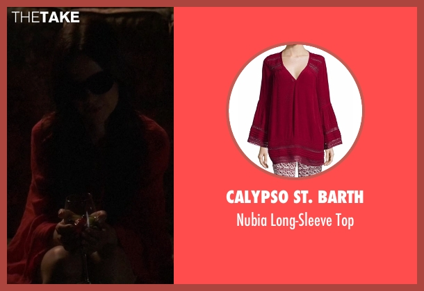 Calypso St. Barth  red top from Pretty Little Liars seen with Jenna Marshall (Tammin Sursok)