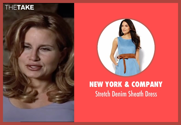 New York & Company blue dress from American Pie seen with Jennifer Coolidge (Stifler's Mom)