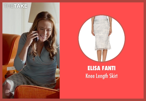 Elisa Fanti gray skirt from Fifty Shades of Grey seen with Jennifer Ehle (Carla May Wilks)