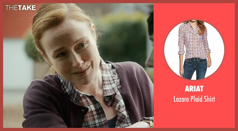 Ariat brown shirt from The Fundamentals of Caring seen with Jennifer Ehle (Elsa Hosk)