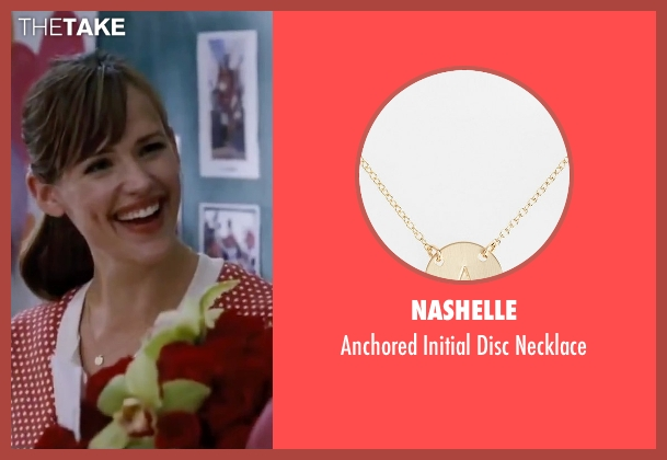 Nashelle gold necklace from Valentine's Day seen with Jennifer Garner (Julia Fitzpatrick)