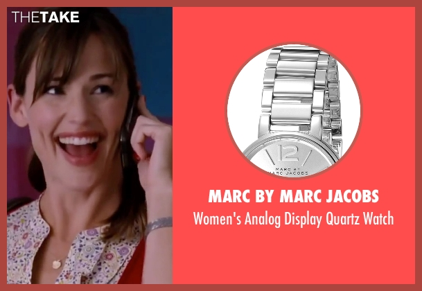 Marc By Marc Jacobs silver watch from Valentine's Day seen with Jennifer Garner (Julia Fitzpatrick)