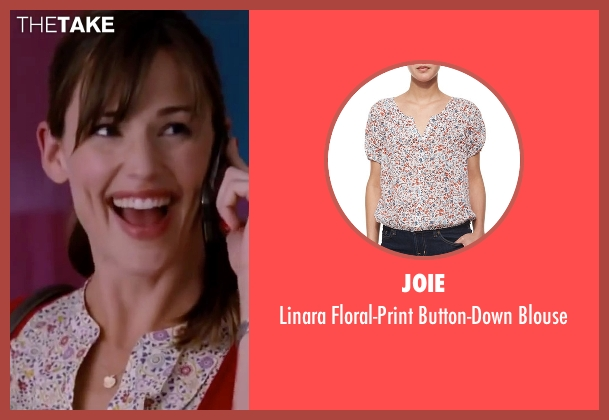 Joie white blouse from Valentine's Day seen with Jennifer Garner (Julia Fitzpatrick)