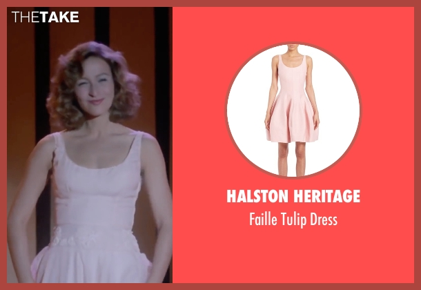 Halston Heritage pink dress from Dirty Dancing seen with Jennifer Grey (Baby Houseman)