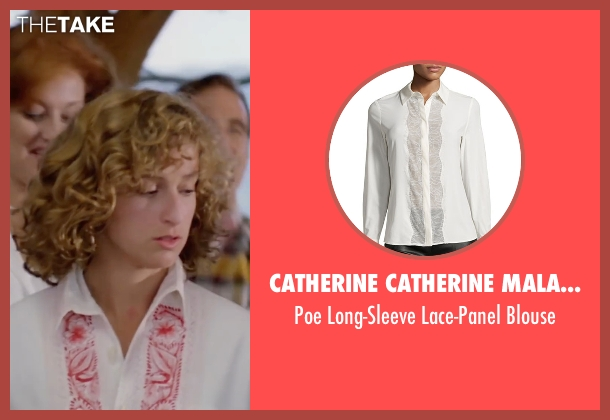 Catherine Catherine Malandrino white blouse from Dirty Dancing seen with Jennifer Grey (Baby Houseman)