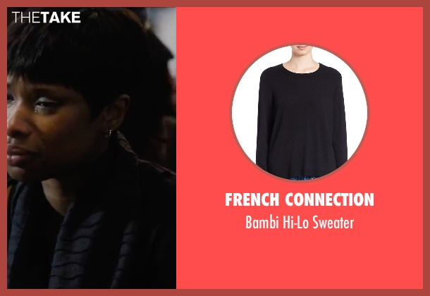 French Connection black sweater from Chi-Raq seen with Jennifer Hudson (Irene)