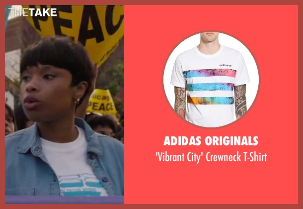 Adidas Originals white t-shirt from Chi-Raq seen with Jennifer Hudson (Irene)